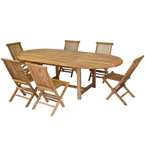 Pons Gifts Tavolo allungabile e 6 sedie