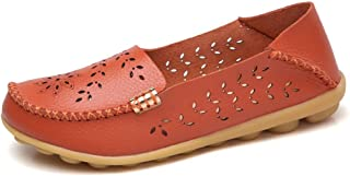 Veveca Women Classic Breathable Flat Indoor Casual Moccasin Driving Walking Shoes Flat Loafer Comfort Round Toe Slip-on