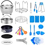 MONYES 21 Pcs Pressure Cooker Accessories Compatible with 5,6,8 Qt Instant Pot, Steamer Basket Kitchen Tong Egg Beater Springform Pan Egg Steamer Rack