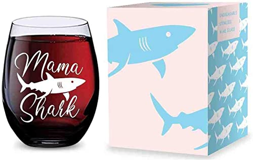 2021 Stemless Wine Glass (Mama Shark) Made of online sale popular Unbreakable Tritan Plastic and Dishwasher Safe - 16 ounces online sale