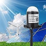 Jeffergarden Sensor de radiación Granja Agricultura Medidor de Sensor de radiación Solar al Aire Libre Medidor Detector de irradiancia Transmisor probador