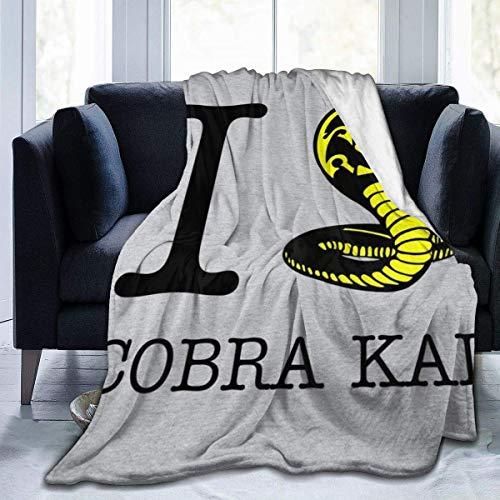 KOMOBB I Love Cobra Kai - Manta de franela de forro polar, ligera, ultrasuave, cálida, para sofá
