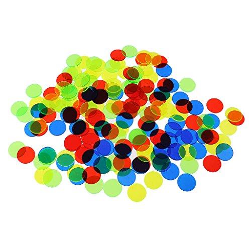 Injoyo 100x PRO Count Bingo Chips Marker Für Party Club Fun Bingo Spielkarten Teile - Gemischte Farbe