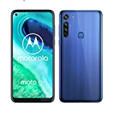 "Motorola Moto G8, Tripla Fotocamera 16 MP, Processore Octa-Core Qualcomm Snapdragon 665, Batteria 4000 mAh, Display MaxVision HD+ 6,4"", Dual SIM, 4/64GB Espandibile, Android 10, Blue"