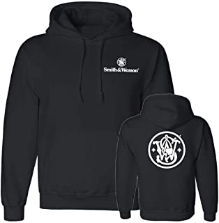 Smith & Wesson S&W Circle Emblem Pullover Hooded Sweatshirt in Black - Officially Licensed