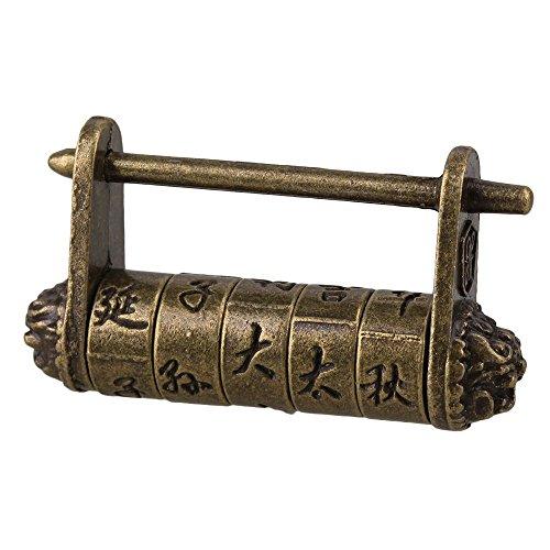 BQLZR Metall Chinesische Alte Art Antike Passwortschutz Vorhängeschloss für Koffer und Box