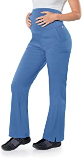 Landau womens Maternity Scrub Pant - Stretchy Waistband with 4 Pockets Medical Scrubs Pants