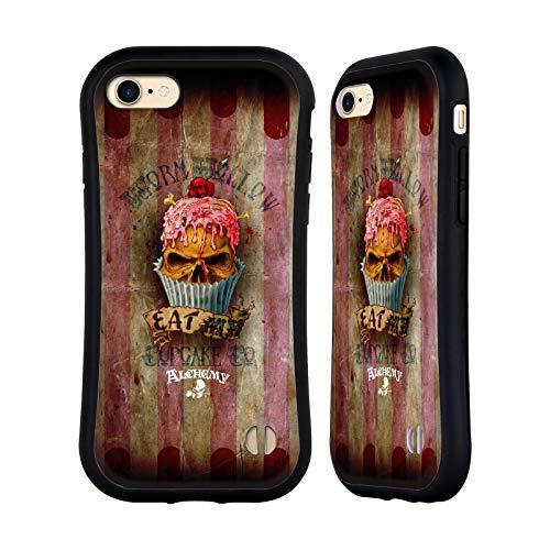 Head Case Designs Licenza Ufficiale Alchemy Gothic Mangiami Cupcake Cranio Cover Ibrida Compatibile con Apple iPhone 7 / iPhone 8 / iPhone SE 2020