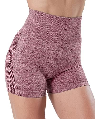 Davicher Pantalones Deportivos Cortos Leggings Mujer Push Up Mallas Yoga Alta Cintura Elásticos Leggings para Fitness Yoga Correr Secado Rápido
