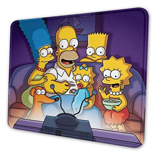 The Simpsons Non-Slip Mouse Pad Bottom Rubber Pads Ultra-Thin Gaming Mouse Pad. 10 X 12 Inch