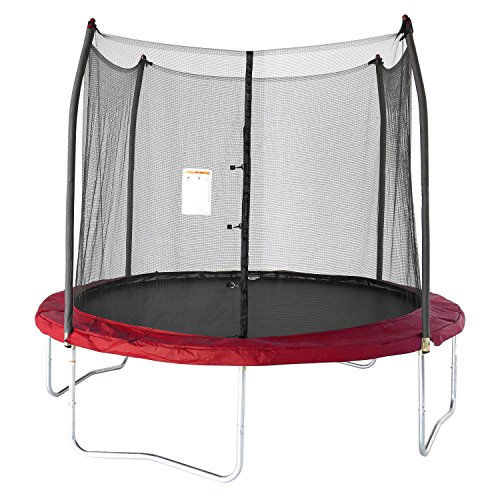 Skywalker Trampolines 10 -Foot Round Trampoline and Enclosure with Spring | Red