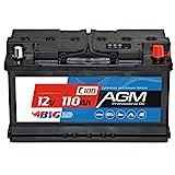 BIG AGM 110Ah C100 12V Solar Batterie Boot Camping Versorgung ersetzt GEL 100Ah 90Ah