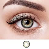 pertufaciy Color Contacts for Eyes Cosplay Party Cosplay Makeup Makeup for Party Cosplay Halloween Party Toy (Brown&Green)