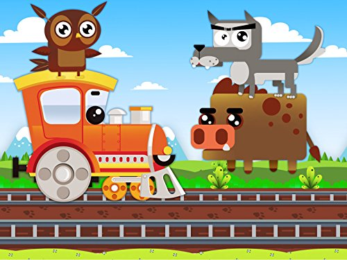 The Trains guess the animals in the footsteps