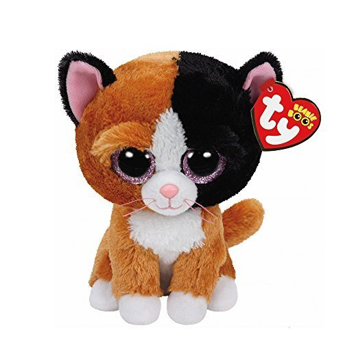 Claire's Accessories TY Beanie Boos Small Tauri the Kitten Plush Toy by Claire's