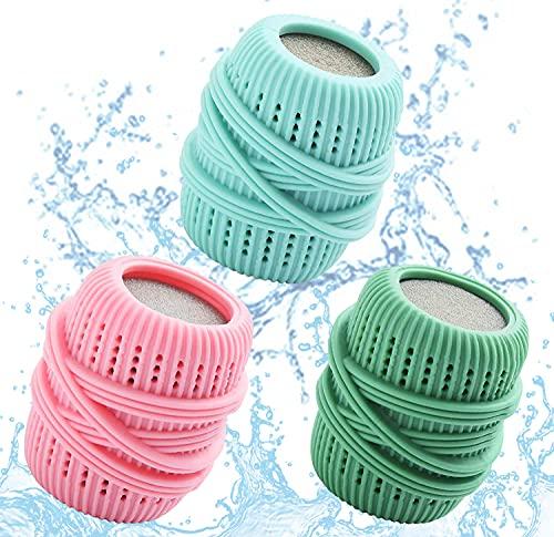 Bolas para el lavado, bolas para la colada, bolas para lavadora y secadora, reutilizables, efecto suavizante natural (mezclado)