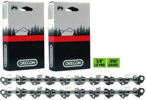 "Oregon 2 Pack, 91PX055G 55 Drive Link Chamfer Chisel Xtra Guard Chainsaw Chain Loop 3/8"" Pitch x .050"" Gauge - Compatible with: Stihl 63PM3 55 for 16"