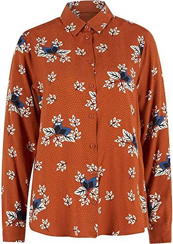 Seidensticker Damen Hemdbluse Langarm Print Bluse, Ginger Bread, 40