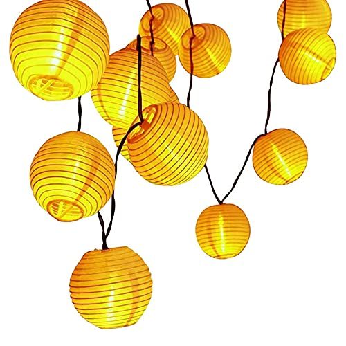 LED Lampion Lichterkette außen, otutun Lichterkette Lampion Außen 5 Meter LED Lampions Lampion LED Lichterketten mit 20er LED Laternen Lichter für Garten, Hof, Hochzeit, Fest Deko (Warmweiß)