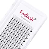 Volume Lash Extensions 0.07 12D Premade Fans D Curl Middle Stem and Long Stem Premade Volume Fans Eyelash Extensions Pro Point Pre Made Lash Fans (12D-0.07-D, 16mm)