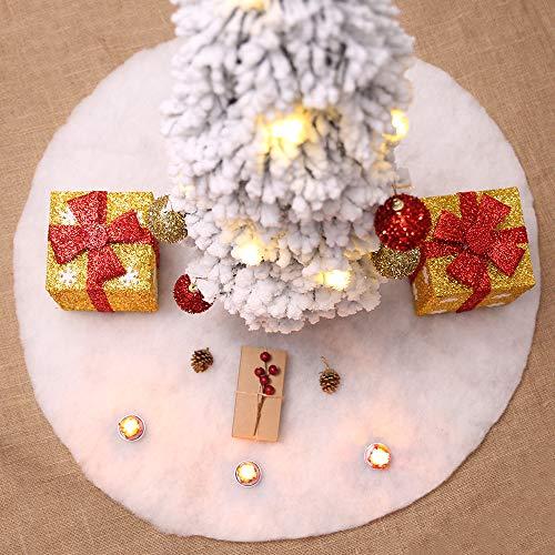 doublebulls décor Bianca Gonne Per Alberi Di Natale, Decorazioni Natalizie, 100Cm(39.4')