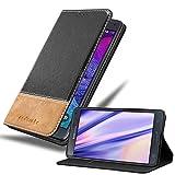 Cadorabo Funda Libro para Samsung Galaxy Note 4 en Negro MARRÓN - Cubierta Proteccíon con Cierre Magnético, Tarjetero y Función de Suporte - Etui Case Cover Carcasa