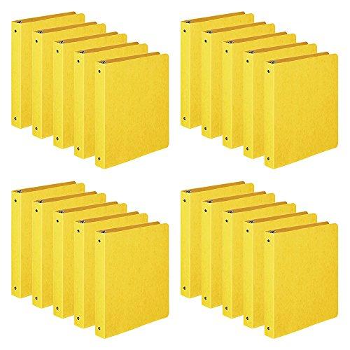 "ACCO Presstex 1 Inch Ring Binders, 8.5"" x 11"" Sheet Size, Yellow, 1 Case, 20 Binders/Case (A7038610CS)"