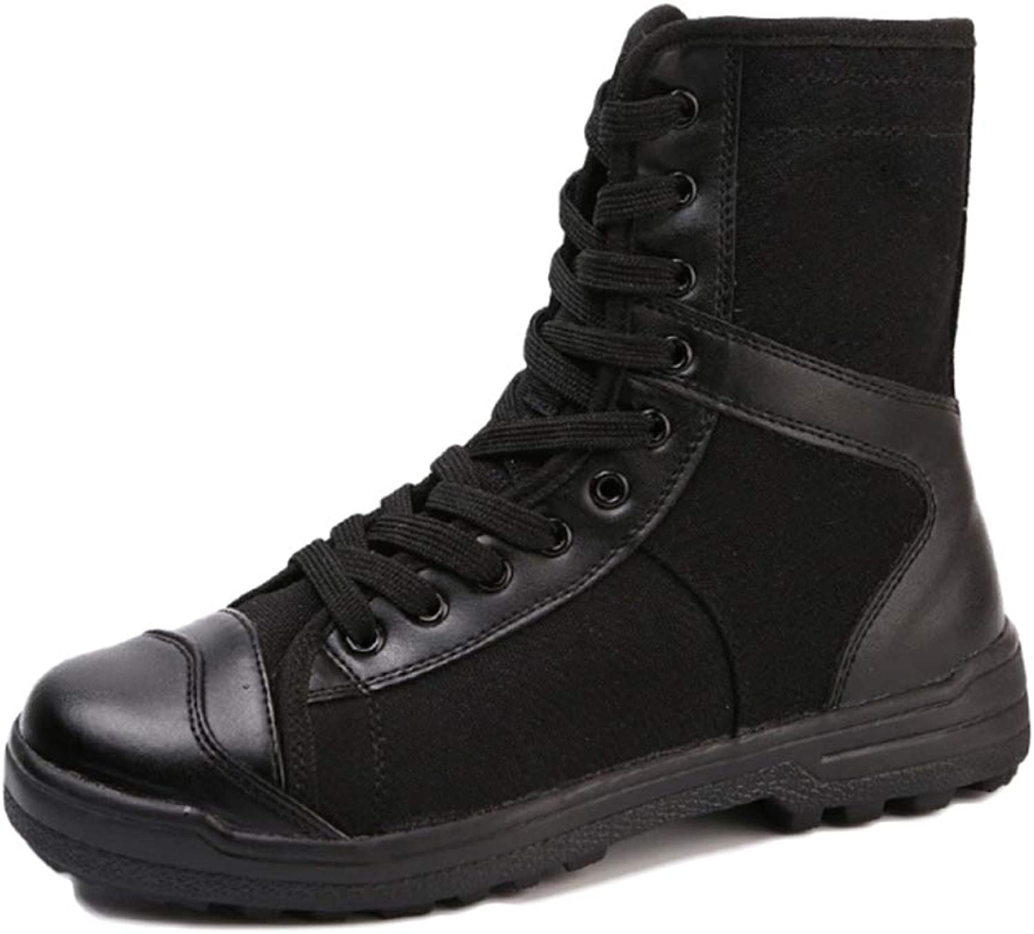 Men Boots Tactical Training Desert High-top Boots Breathable Lightweight