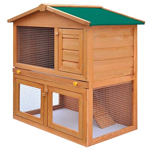 Ausla - Caseta para perro exterior con 3 puertas de madera