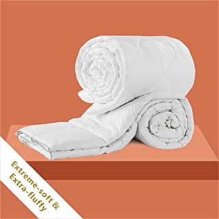 CozynightDown Alternative Comforter-All Season Queen ComforterDuvet Insert with Corner Tabs-Hypoallergenic& Breathable-DiamondStitchedReversibleWhiteComforter