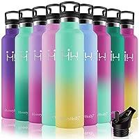 honeyholly bottiglia termica acciaio inox 1 litro thermos freddo/ caldo 1000ml borraccia isotermica senza perdite grande borraccia acqua per fitness,yoga, palestra,caffè,te, ufficio | bicolori