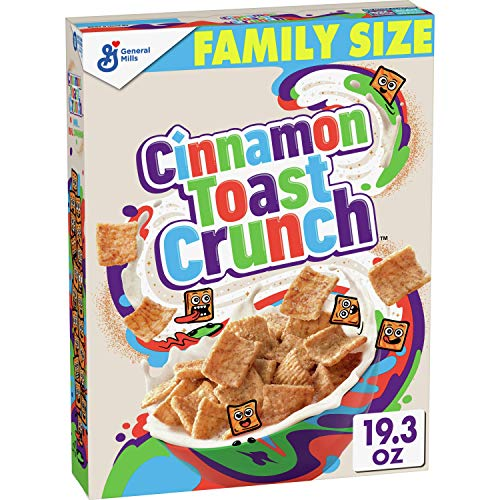 General Mills, Cinnamon Toast Crunch Breakfast Cereal, with Whole Grain, Family Size, 19.3 oz
