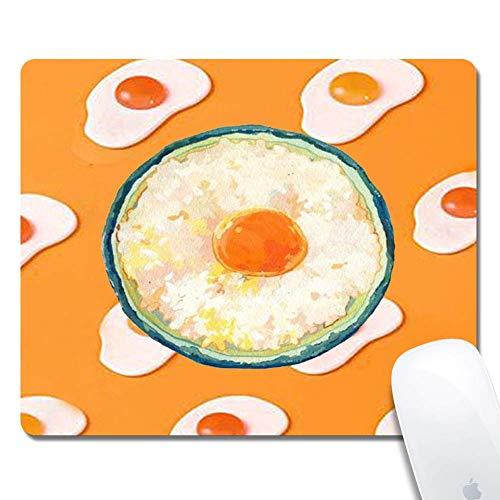 N\A Tappetino per Mouse Omelette Egg Rettangolo ergonomico Tappetino per Mouse da Gioco esteso per Computer Nero