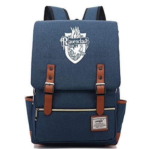 NYLY Adolescente casuale retro rucksack hogwarts Scuola Ravenclaw Academy backpack borsa libro magico Grande Marina C