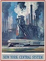 ニューヨークセントラルシステム-20世紀特急、ブリキの看板ヴィンテージ面白い生き物の鉄の絵金属板の個性