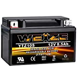 Weize YTZ10S-BS High Performance - Maintenance Free - Sealed AGM Motorcycle Battery Compatible With Yamaha Honda