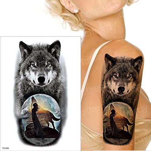 3 Piezas Tatuaje Manga Tatuaje Pegatina Hombres Tatuaje Temporal Lobo Tatuaje Tigre Gato Trago Tatuajes Impermeable Falso Tatuaje Pecho Cuerpo Arte niños TH356 21x15 cm
