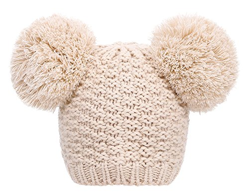 Simplicity Women's Winter Cable Knit Pompom Ski Snowboard Beanie Hat