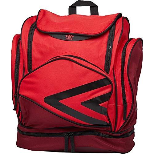 UMBRO Pro Training Italia - Mochila para Equipaje, Color Red/Claret/Black, tamaño Large