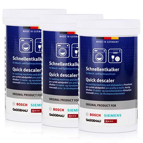 3 x BSH snelontkalker 250 g – voor was- en vaatwassers, ontkalker.
