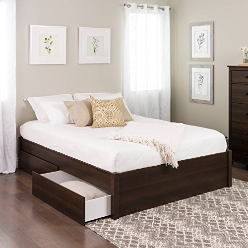 Queen Select 4-Post Platform Bed with 4 Drawers, Espresso