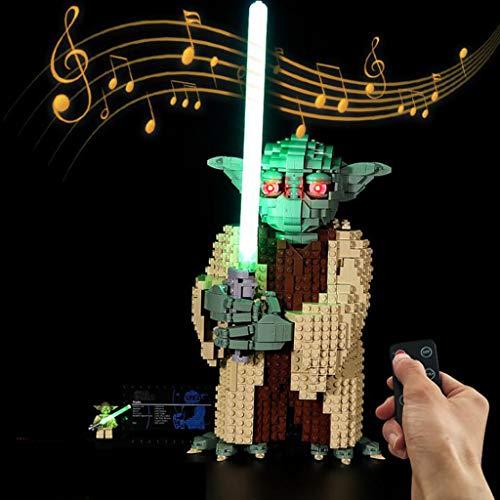 XW LED-Beleuchtungsset Mit Remote-Sound Und -Licht - Kompatibel Mit Dem 75255 Star Wars Master...