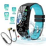 Smartwatch, Reloj Inteligente Impermeable IP68 para Hombre Mujer niños,Pulsera de Actividad Inteligente con 14 Modos de Deporte,con Pulsómetro,Blood Pressure,Sueño,Podómetro,para Android y iOS (Azul