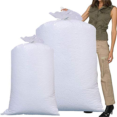 2 Large Bean Bags Booster Refill Polystyrene Beads Filling Top Up Bag Beans Balls 20 Cubic Feet