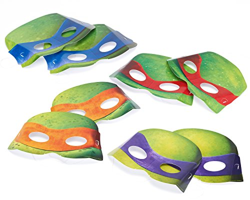 Teenage Mutant Ninja Turtles – Mascaras de papel, Pack of 8