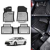 KUST 3D Floor Mats for Toyota Camry 2018-2021 Non-Hybrid and Hybrid All Models All Weather Mat 2 Row Liner SetsOdorless TPE Floor Carpet Liner