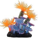 ShenMiDeTieChui Decoración Acuario Plantas acuáticas Ornamento de Coral Artificial Planta de Silicona Planta de Acuario Fake Fish Tank Decoración Paisaje Multicolor (Color : A)