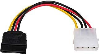Akyga AK-CA-17 - Cable adaptador (conector Molex macho a conector SATA hembra HDD/SSD, 2 x 15 cm)