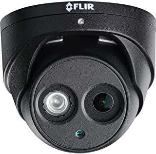 Flir Digimerge N253EA8BK 4K IP Dome Outdoor Black Camera, Vandal Proof, Audio Recording, Color Night Vision