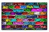Farbe Brick Wall Effekt Stoff Vorhang Baumwolle Farbe